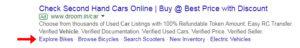 Sitelink extensions, example of sitelink extensions, Google Ads Sitelink Extensions