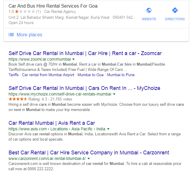 Typical Google Ad, What is Google Ads, what is google adwords