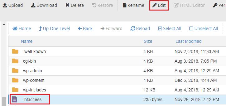 Edit .htaccess file, How to edit .htaccess file, How to edit htaccess file