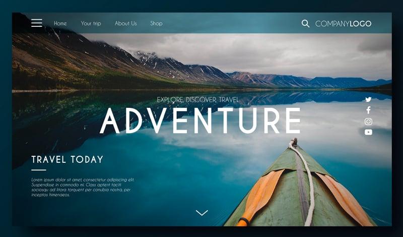 Attractive design for website, good looking website, website designs
