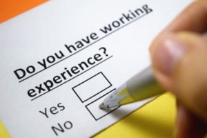 Work Experience, working experience, do you have work experience