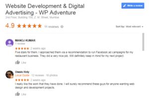 Google reviews, reviews on Google