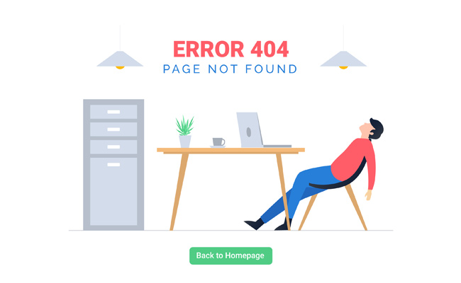 Example of 404 page