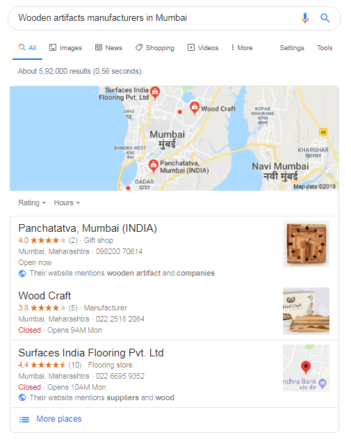 Local SEO pack example, Local SEO services India