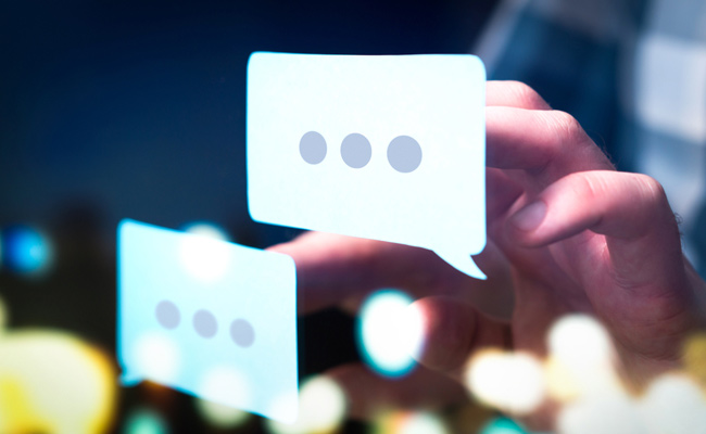 Speech bubbles for conversations