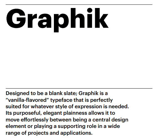 Graphik Typeface for PC