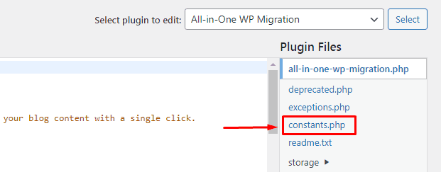Locating the Constants PHP file