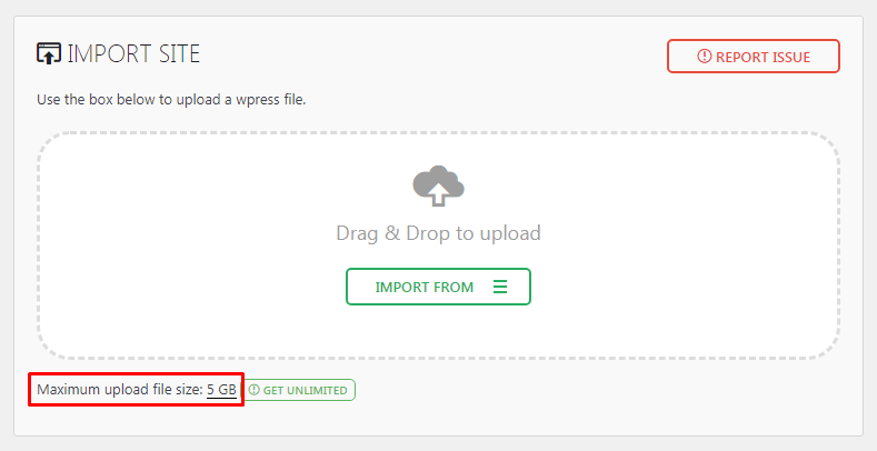Max Upload File Size of 5 GB